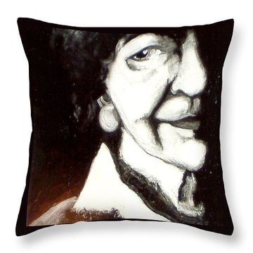 Mother Throw Pillow by Carrie Maurer