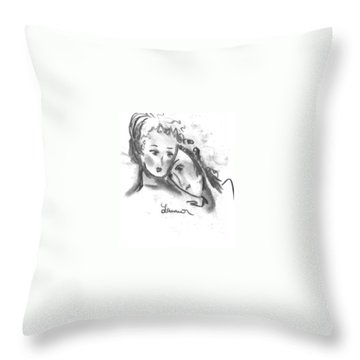 Mother Daughter Throw Pillow by Laurie L