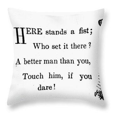 Mother Goose: Dare Throw Pillow by Granger