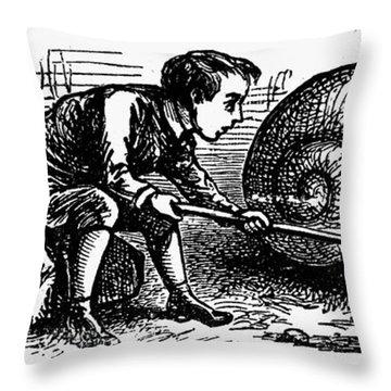 Mother Goose: Snail Throw Pillow by Granger