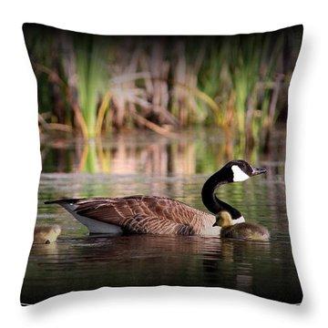 Mother Goose Throw Pillow by Travis Truelove