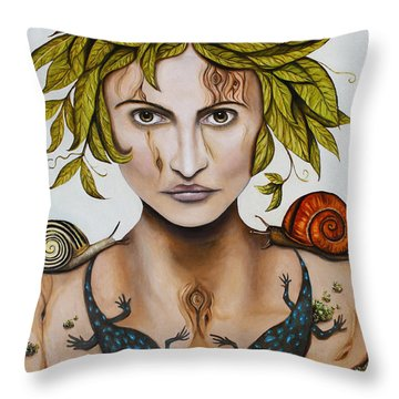 Mother Nature With Contrast Throw Pillow