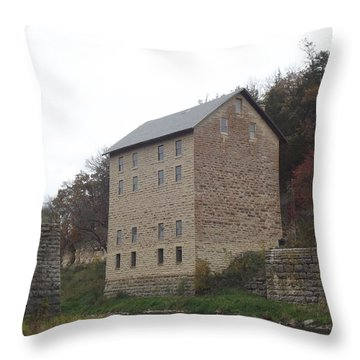 Motor Mill Throw Pillow by Bonfire Photography