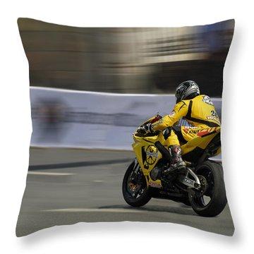 Motorbike Throw Pillow by Igor Sinitsyn