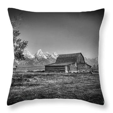 Moulton Barn Bw Throw Pillow