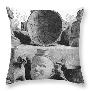 Mound Builders: Pottery Throw Pillow by Granger