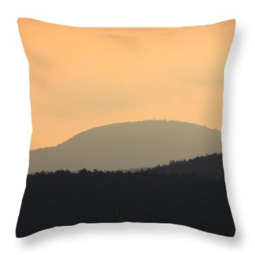 Mount Grace Warwick Ma Throw Pillow by John Burk