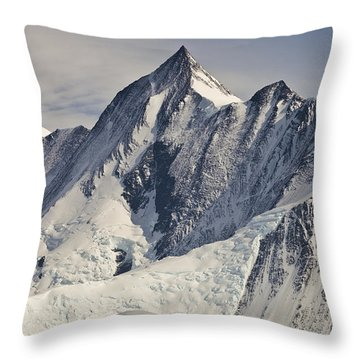 Mount Herschel Above Cape Hallett Throw Pillow