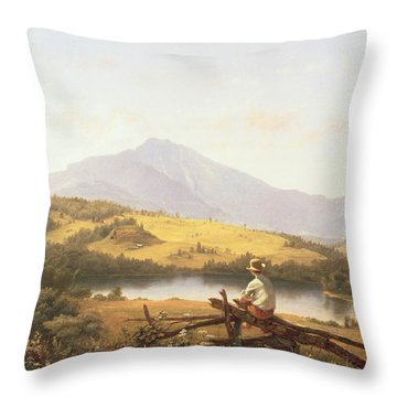 Mount Mansfield Throw Pillow by Jerome Thompson
