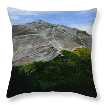 Mount Marathon  Throw Pillow by Betty-Anne McDonald