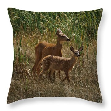 Throw Pillow featuring the photograph Mount Rainier Residents by Sharon Elliott