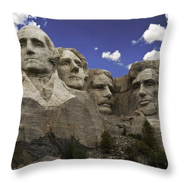 Mount Rushmore  Throw Pillow by Paul Plaine