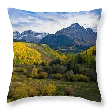 Mount Sneffels Under Autumn Sky Throw Pillow