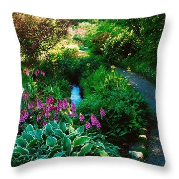 Mount Usher Gardens, Co Wicklow Throw Pillow by The Irish Image Collection