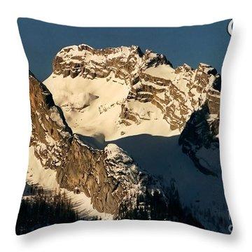 Mountain Christmas Austria Europe Throw Pillow by Sabine Jacobs