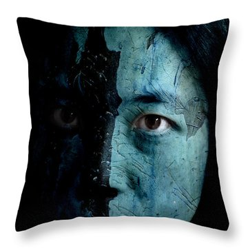 Mountain Dweller Throw Pillow by Christopher Gaston
