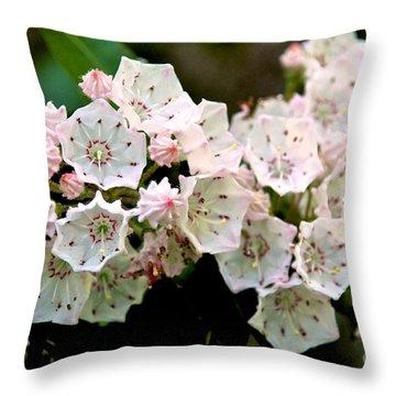 Mountain Laurel Flowers Throw Pillow