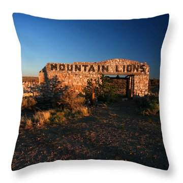 Throw Pillow featuring the photograph Mountain Lions At Two Guns by Lon Casler Bixby