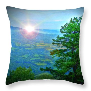 Mountain Sunrise Throw Pillow by Dan Stone