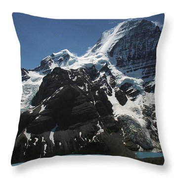 Mountain With Glacier And Snow Throw Pillow by Kelly Redinger