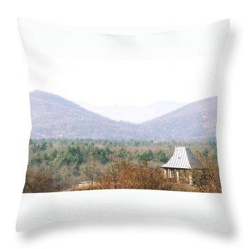 Mountains At Biltmore Throw Pillow