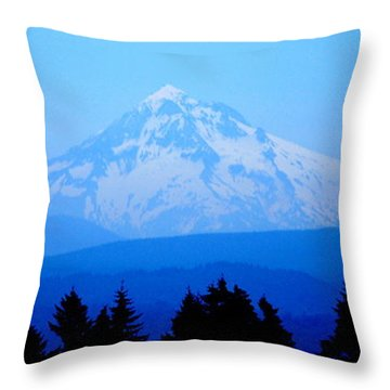 Mountian Blues Throw Pillow