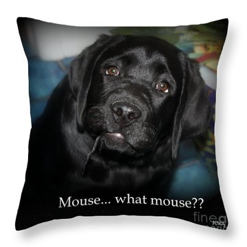 Mouse---what Mouse Throw Pillow