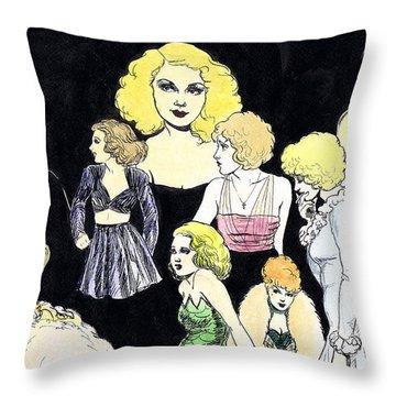 Movie Ladies Montage Throw Pillow by Mel Thompson