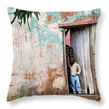 Mozambique - Land Of Hope Throw Pillow by Christopher Gaston
