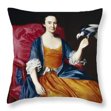 Mrs. Benjamin Hallowell Throw Pillow by John Singleton Copley