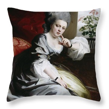 Mrs Clark Gayton Throw Pillow by John Singleton Copley
