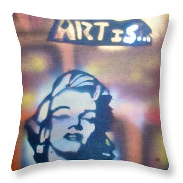 Ms.monroe Throw Pillow by Tony B Conscious