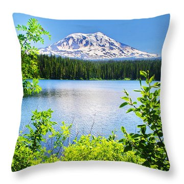 Mt Adams And Takhlakh Lake Throw Pillow