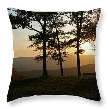 Mt Pisqah Sunset 2 Throw Pillow
