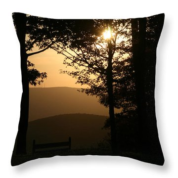 Mt Pisqah Sunset Throw Pillow