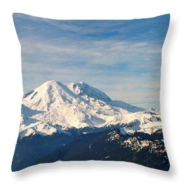 Mt Rainier Panoram Throw Pillow