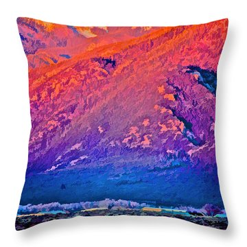 Mt Wheeler At Sunset Throw Pillow
