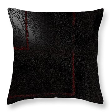 Throw Pillow featuring the digital art Muddy by Jeff Iverson