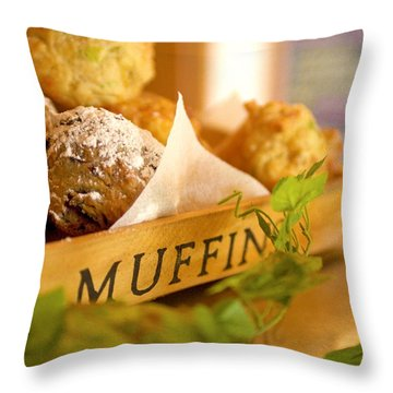 Muffins Fresh And Warm Throw Pillow