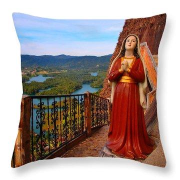 Mujer De La Piedra Throw Pillow by Skip Hunt