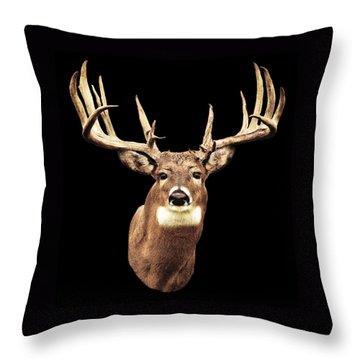 Mule Deer Head Throw Pillow