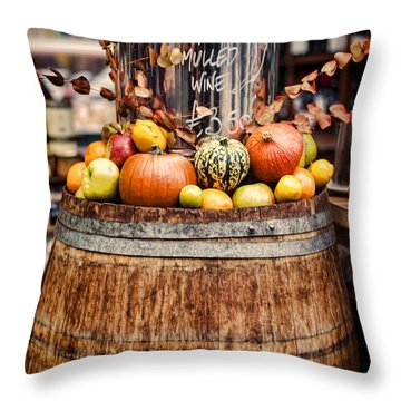 Mulled Wine Throw Pillow by Heather Applegate