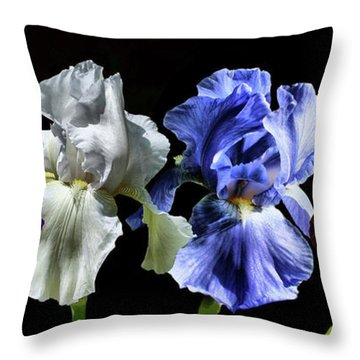 Throw Pillow featuring the photograph Multi Iris by Rick Friedle