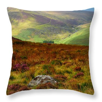 Multicolored Hills Of Wicklow. Ireland Throw Pillow by Jenny Rainbow