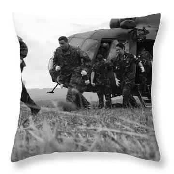 Multinational Medical Personnel Retreat Throw Pillow