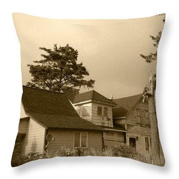 Munsters Or Adams Family Throw Pillow by Kym Backland