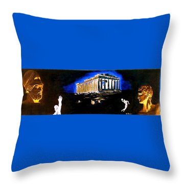 Mural - Night Throw Pillow