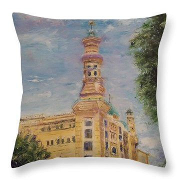 Murat Shrine Temple Throw Pillow