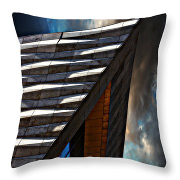 Throw Pillow featuring the photograph Museum Of Liverpool by Meirion Matthias
