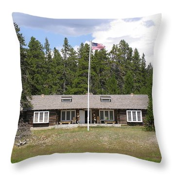 Museum Of The National Park Ranger Throw Pillow by Feva  Fotos